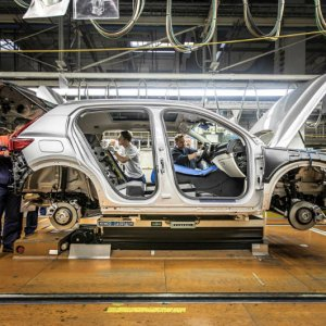 2018 Volvo XC40 on assembly line